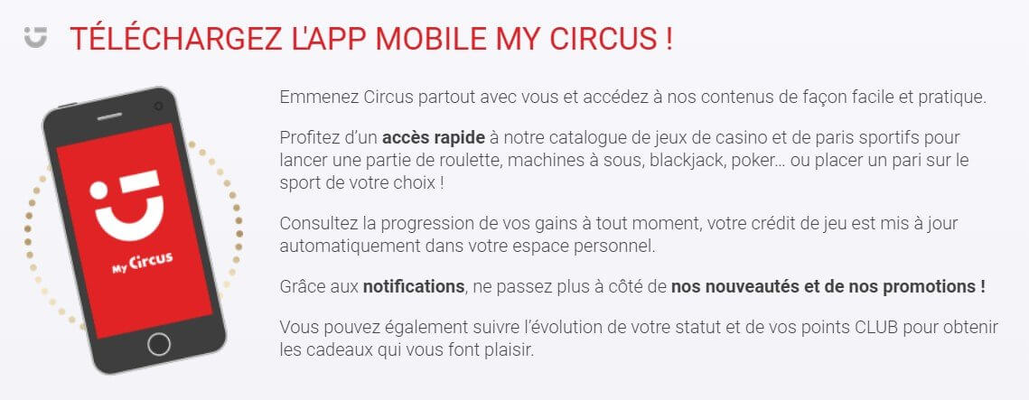 Application Circus : comment parier depuis son mobile ?